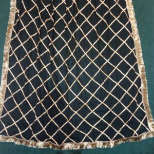 Gota Work Large Fancy Dupatta For Wedding Party Use Full Length Black