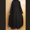 Beaded Pintuck Abaya With Stole Nidah Fabric