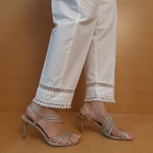 Laces Embellished Soft Cotton Trouser
