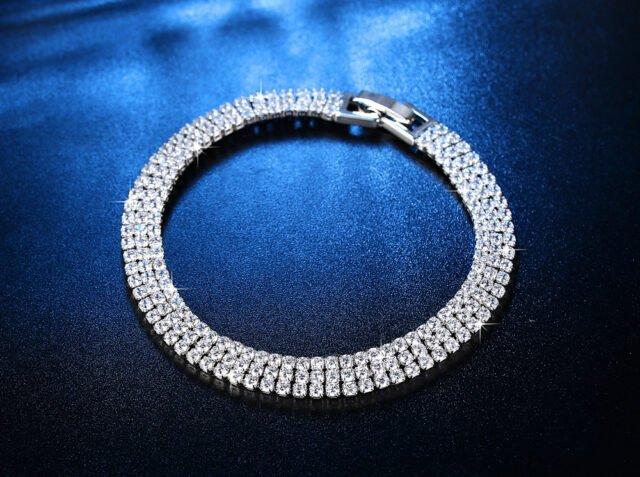 2925 Sterling Silver Bracelet - 19 cm long - AB136