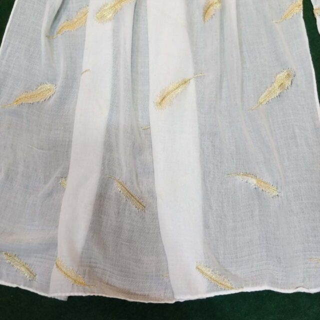 2Embroided Lawn Large Scarf Stole - 190 x 80 Cm - ZSC102 (1)