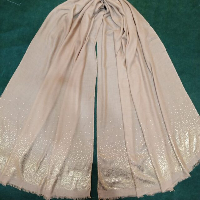 Lawn Shimmer Scarf Stole – 190 x 80 Cm - Brown – ZSC105