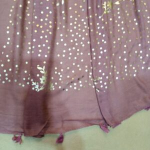 Brown scarf stole190 x80cm ZSC106 (2)