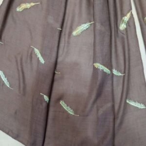 Embroided Lawn Large Scarf Stole - 190 x 80 Cm - ZSC102 (1)