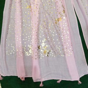 Light pink scarf stole190 x80cm ZSC106 (2)