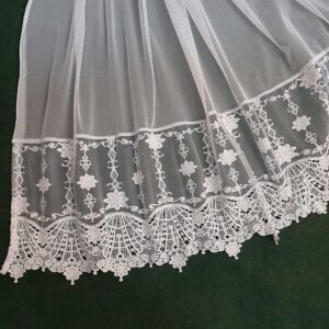 Net Dupatta With Bottom Lace