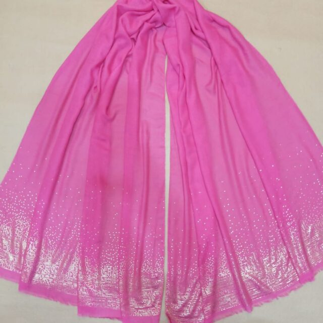 Pink scarf stole190 x80cm ZSC105 (1)