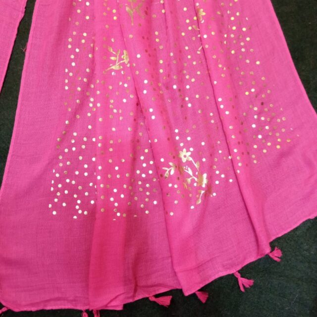 Pink scarf stole190 x80cm ZSC106 (2)