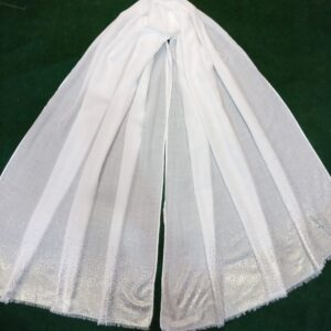 White scarf stole190 x80cm ZSC105 (2)