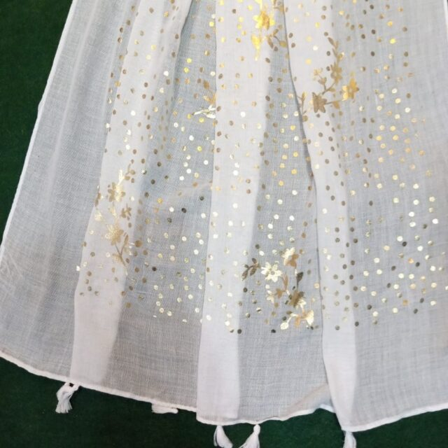 White scarf stole190 x80cm ZSC106 (2)