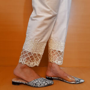 2Embroided – Cotton Trouser – Off White – ZT303 (1)