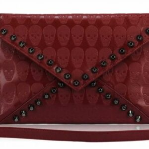 Red Skull Flapover Clutch Purse