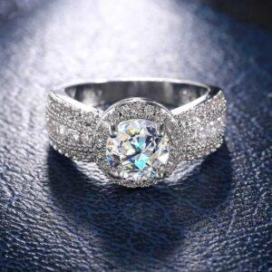 AAA Zircon Ring Silver