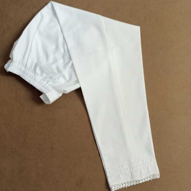 Girls Cotton Trouser With Bottom Lace